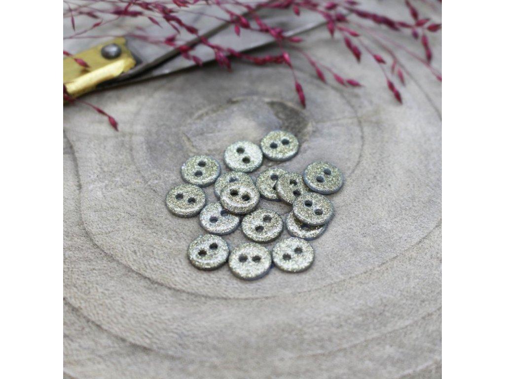 knoflik glitter sage 9 mm ateliere brunette (1)