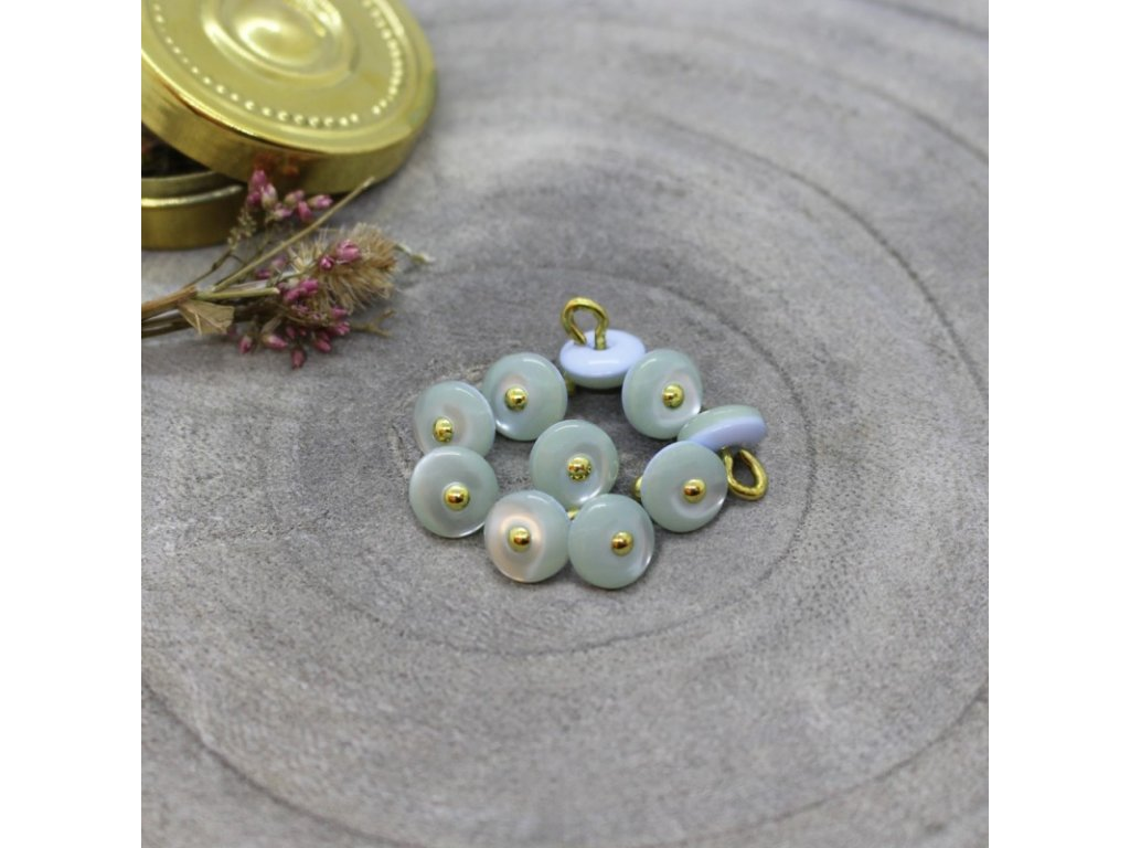knoflik jewel sage 9 mm ateliere brunette