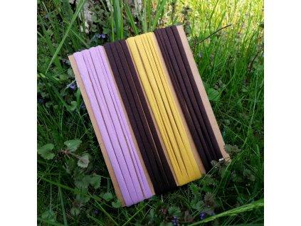 Balíček úpletových tkaniček - 4 x 150 cm, mix barev I