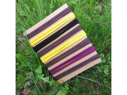 Balíček úpletových tkaniček - 8 x 50 cm, mix barev