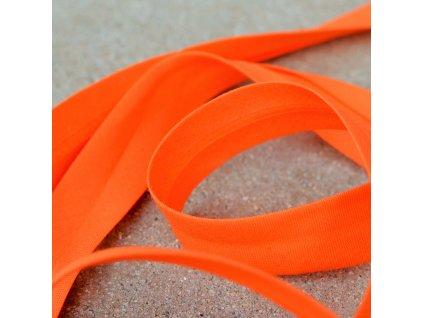 0,5 m šikmý proužek bavlněný sytě oranžový 18 mm