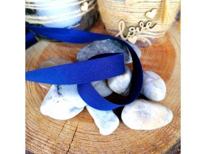 0,5 m šikmý proužek tmavě modrý 18 mm (bavlna)