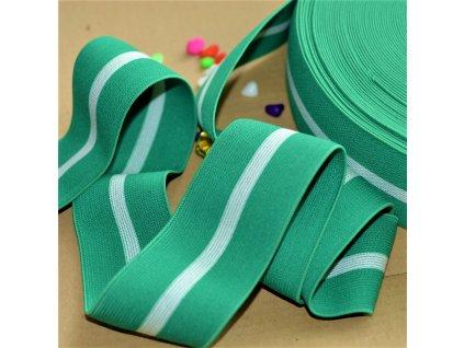 101 cm oboustranná guma do pasu Soft Green 6 cm