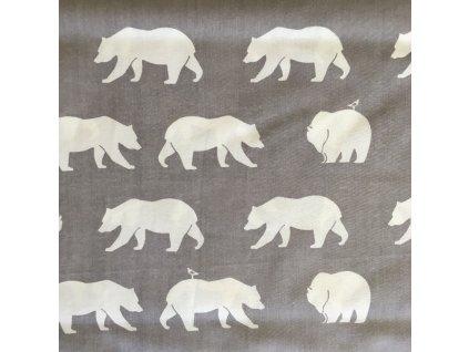 """bio popelín """"medvědi"""" od Birch Fabrics"""