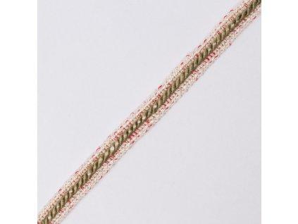 0,5 m prýmek z viskózového hedvábí červená niť 1,2 cm