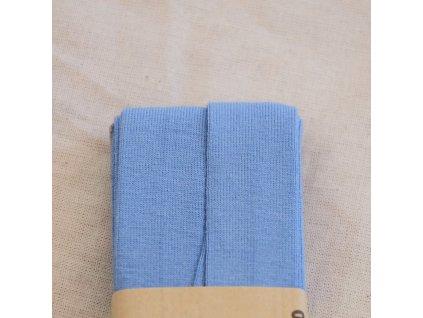 3 m šikmý proužek viskózový úplet modrý 20 mm