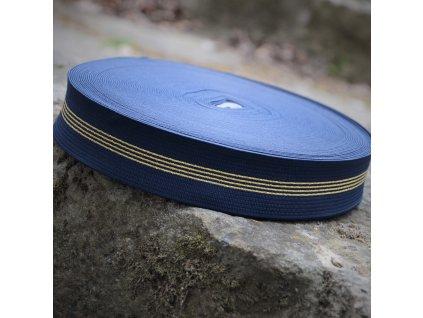 """0,5 m guma do pasu """"navy blue"""" 4 cm"""