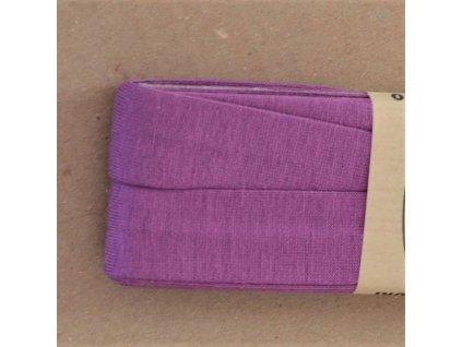 3 m šikmý proužek viskózový úplet fialový 20 mm