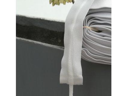 0,5 m galonová pruženka se šňůrkou bílá 3 cm