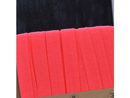 0,5 m šikmý proužek úpletový růžový neon 20 mm