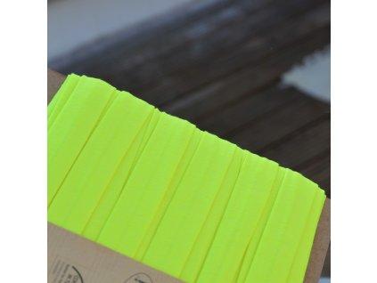 0,5 m šikmý proužek úplet žlutý neon 20 mm