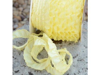 0,5 m řasený dekorovací proužek žlutý 20 mm