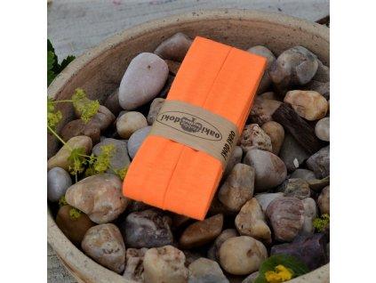 3 m šikmý proužek oranžový neon 20 mm