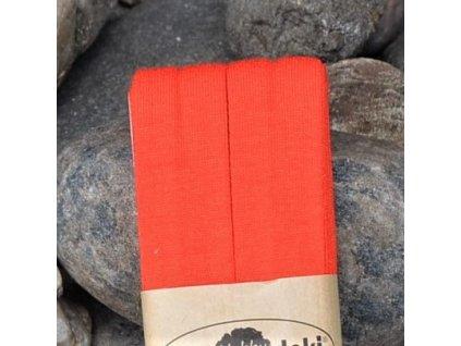 0,5 m šikmý proužek úplet oranžovočervený 20 mm