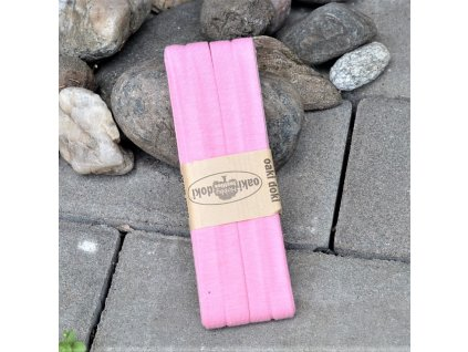 3 m šikmý proužek úplet růžový  20 mm