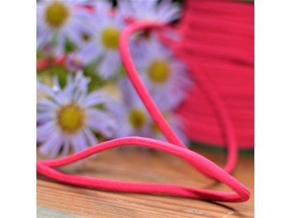 0,5 m kulatá pruženka sytě růžová 3 mm