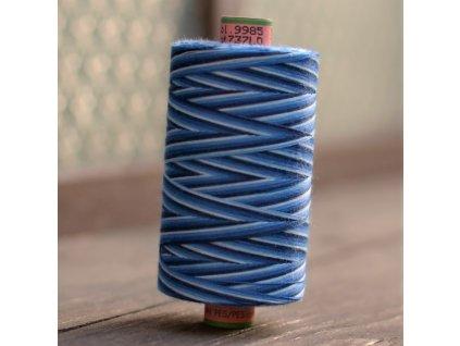 niť návin 1000 m duhová modrá - sabaC multicolor Amann
