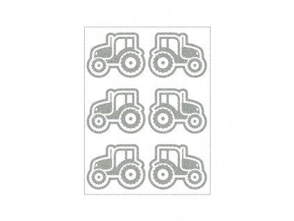 reflexní nažehlovací potisk - traktory