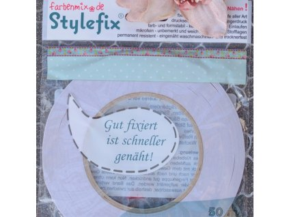 Stylefix 4 mm - oboustranně lepící páska na textil, 50 m