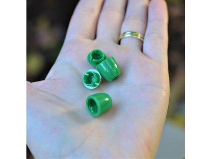 koncovka na tkanice 4 mm - zelená