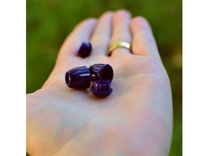 koncovka na tkanice 4 mm - tmavě fialová