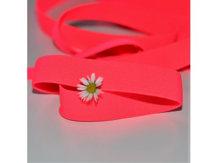 0,5 m tkaná guma do pasu růžová neon 2 cm