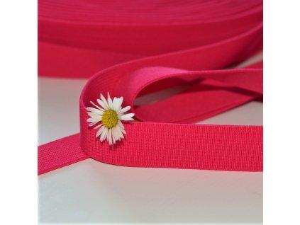 0,5 m tkaná guma do pasu růžová 2 cm