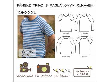 pánské triko s raglánovým rukávem - tištěný střih Caramilla