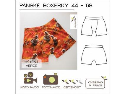 pánské boxerky  vel. 44 -68 - tištěný střih Caramilla