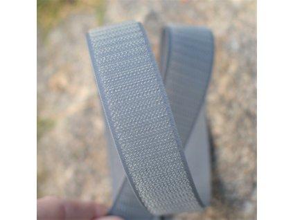 0,5 m suchý zip YKK - 1,6 cm šedý komplet