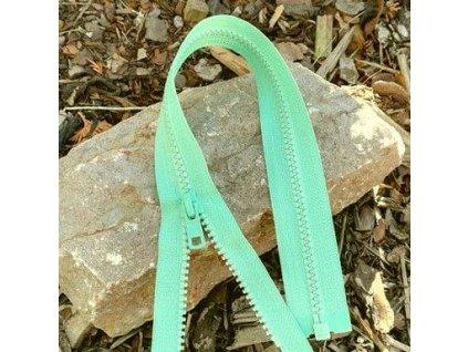 dělitelný kostěný zip YKK - 40 cm, zelená mint