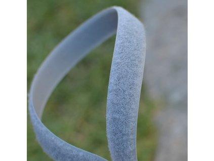 0,5 m suchý zip YKK - 2,5 cm šedý smyčka