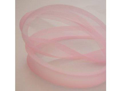 0,5 m šikmý proužek zažehlený růžový 18 mm (organza)