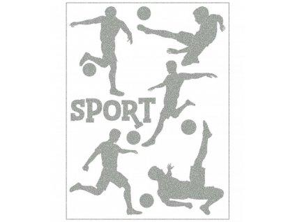 Reflexní nažehlovací potisk - fotbalisté