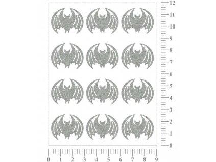 Reflexní nažehlovací potisk - netopýři