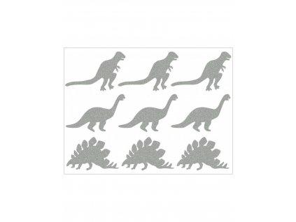Reflexní nažehlovací potisk - dinosauři