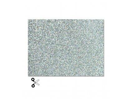 Třpytivá nažehlovací fólie, stříbrná