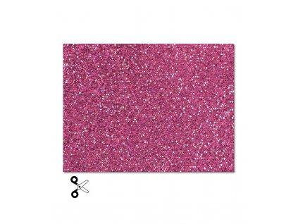Třpytivá nažehlovací fólie, růžová