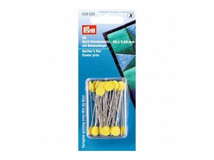 špendlíky s plochou hlavičkou - Prym, 50 ks