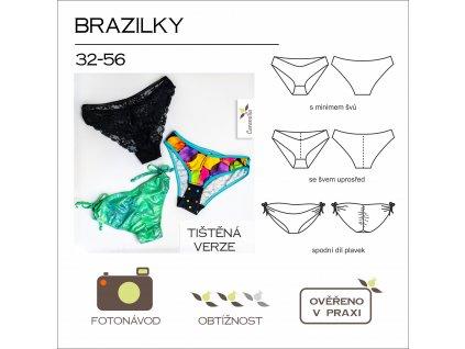 dámské kalhotky brazilky - tištěný střih Caramilla