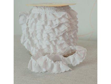 0,5 m řasený dekorovací proužek bílý 20 mm