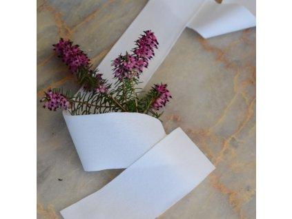 180 cm tkaná pruženka velmi jemná bílá 35 mm