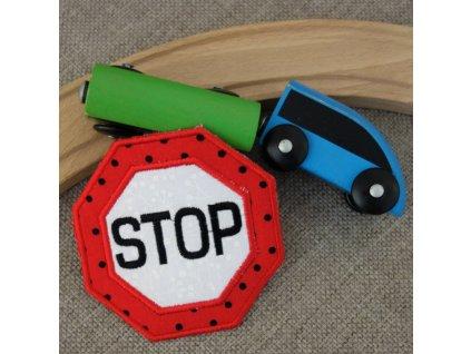 Nášivka Dopravní značka Stop