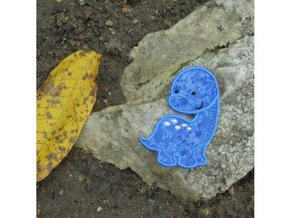 Nášivka Dino modrý