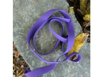 0,5 m tkaná guma do pasu fialová 2 cm