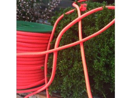 0,5 m kulatá pruženka růžovooranžová neon 3 mm