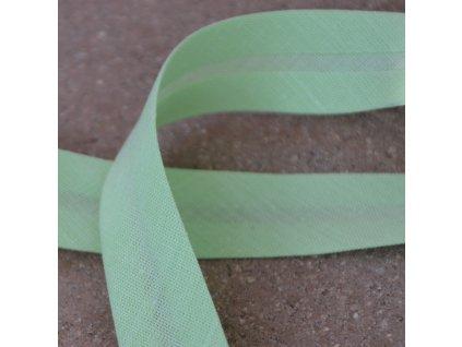 0,5 m šikmý proužek zažehlený zelená mint světlá 18 mm (bavlna/polyester)