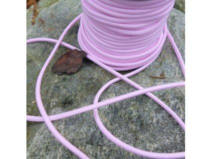 0,5 m kulatá pruženka světle růžová 3 mm