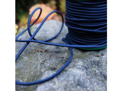 0,5 m kulatá pruženka tmavě modrá 3 mm