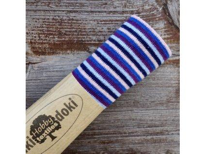 náplet jemný 15 x 70 cm proužky storm stripes
